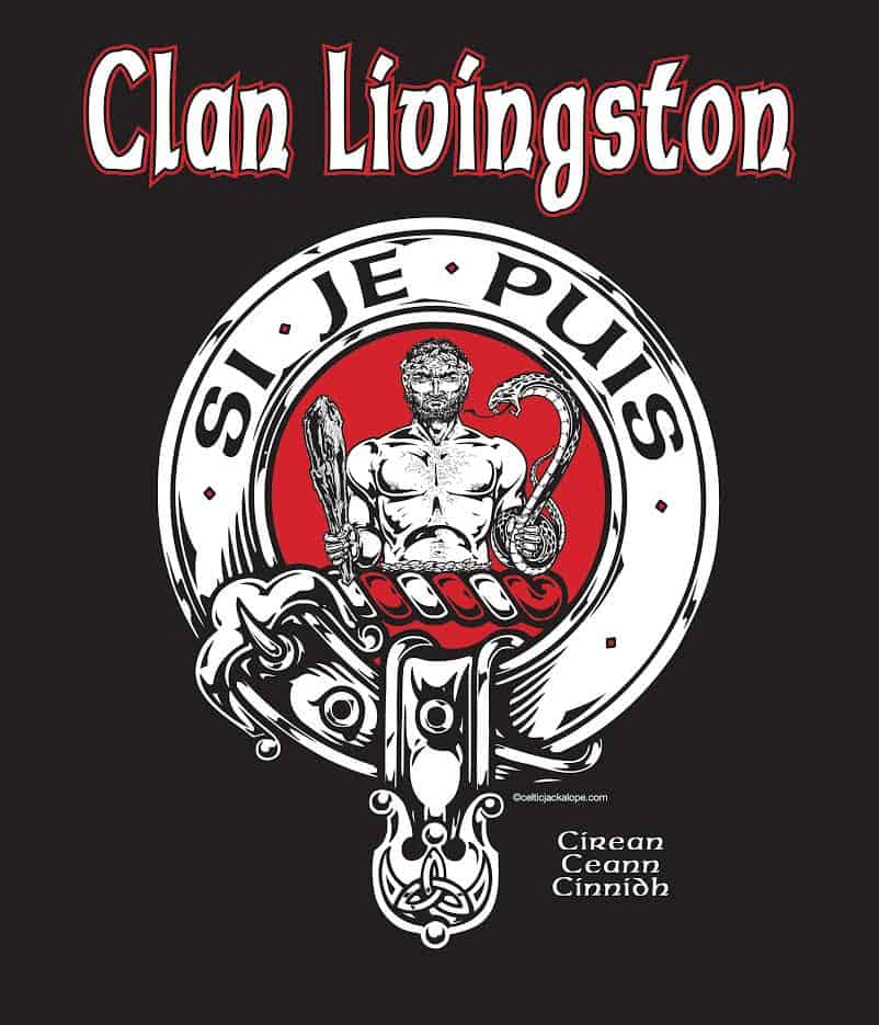 Clan Livingston Clansmans Crest Badge T-Shirt by Maxine Miller ©celticjackalope.com