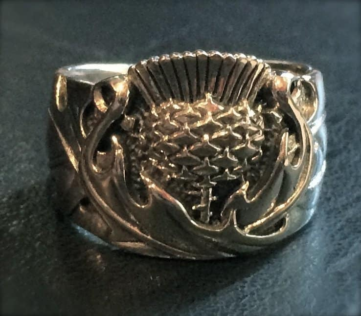 Sterling silver Scottish Thistle Ring by Maxine Miller