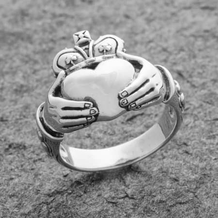 Celtic Jackalope's Sterling silver Irish Claddagh Ring by Maxine Miller