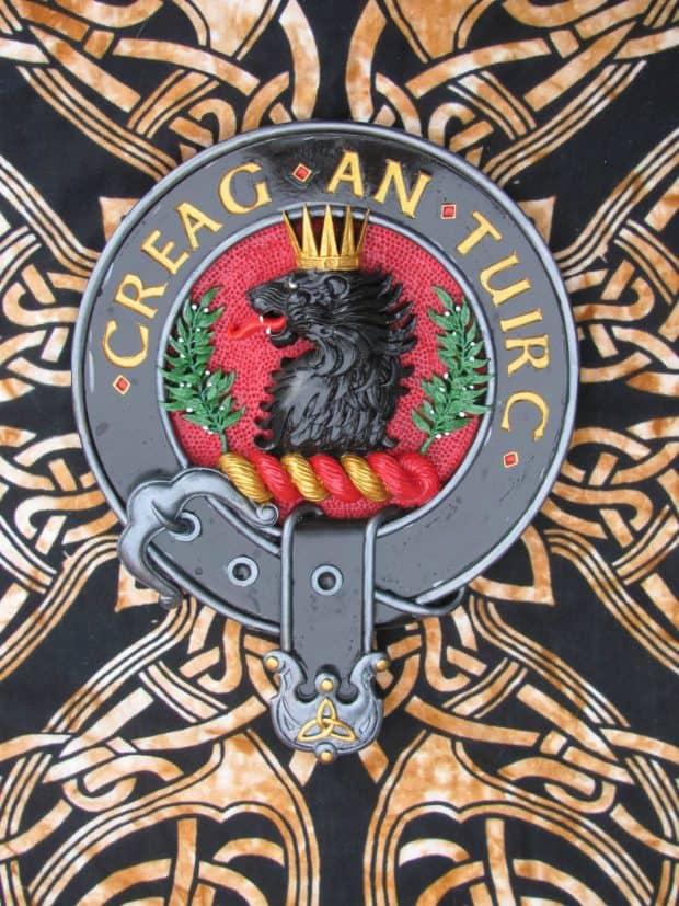 Hand Painted Clan MacLaren Wall Plaque CelticJackalope.com