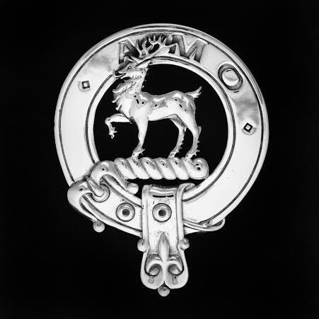 Celtic Jackalope's 925 Sterling Silver Clan Scott Clansman's Crest Badge by Maxine Miller