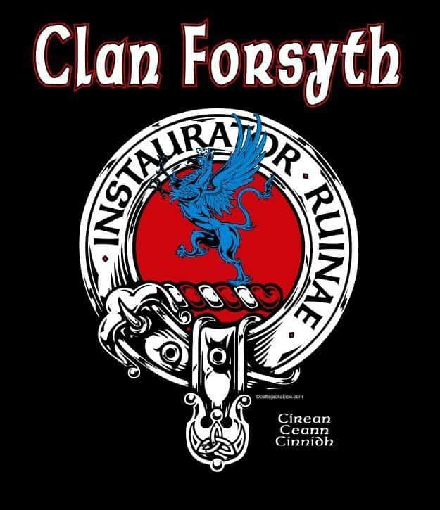 Clan Forsyth Clansman's Crest Badge T-Shirt Artist: Maxine Miller ©celticjackalope.com
