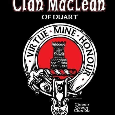 Clan MacLean of Duart Clansman's Crest Badge T-shirt by Maxine Miller ©celticjackalope.com