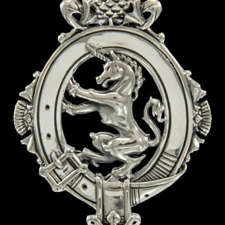 Scottish Unicorn and Thistle Belted Victorian Style Pendant: Design by Maxine Miller