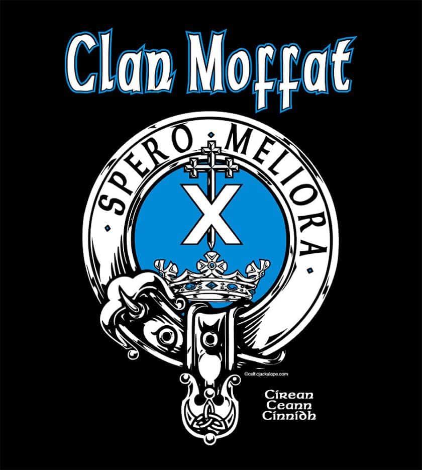 Clan Moffat Clansman's Crest Badge T-Shirt by Maxine Miller ©celticjackalope.com