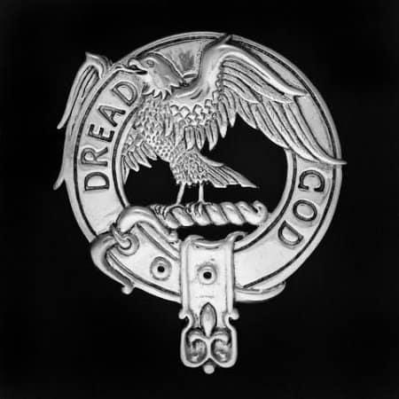 Clan Mun Ro Sterling Silver Clansmans Crest Badge by Maxine Miller ©celticjackalope.com