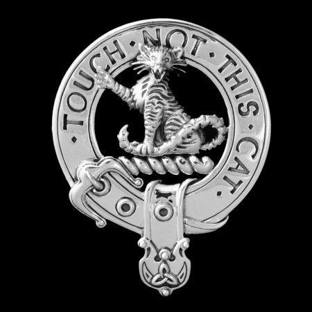 Clan MacGillivray Clansman's Crest Badge - Sterling Silver by Maxine Miller ©celticjackalope.com