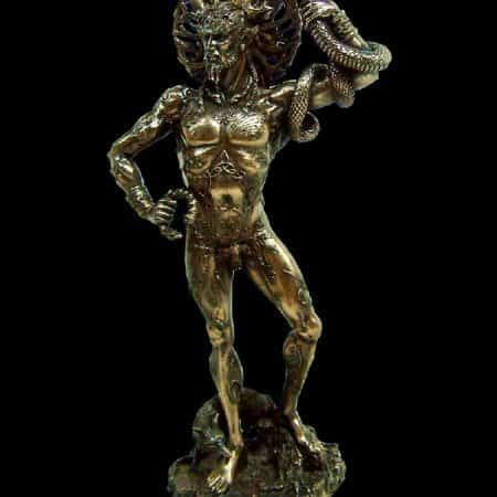Celtic Horned God Cernunnos StatueCold Cast Bronze by Maxine Miller ©celticjackalope.com