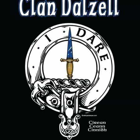 Clan Dalzell Clansman's Crest Badge T-Shirt by Maxine Miller ©celticjackalope.com I DARE