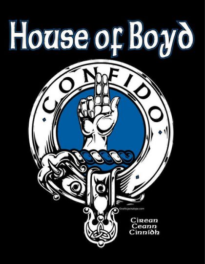 Clan Boyd Clansman's Crest badge T-Shirt by Maxine Miller ©celticjackalope.com