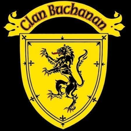 Clan Buchanan Clansman's Crest badge T-Shirt by Maxine Miller ©celticjackalope.com