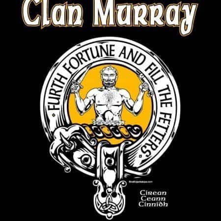 Clan Murray of Atholl Clansman's Crest badge T-Shirt by Maxine Miller ©celticjackalope.com