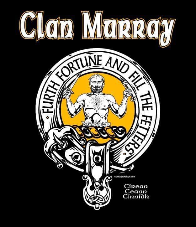 Clan Murray of Atholl Clansman's Crest badge T-Shirt by Maxine Miller ©celticjackalope.com