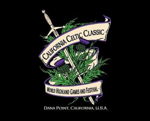 CALIFORNIA CELTIC CLASSIC T-SHIRT - © CELTICJACKALOPE.COM - ARTIST MAXINE MILLER