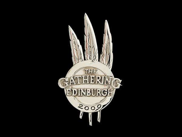 EDINBURGH GATHERING 2009 COMMEMORATIVE BROOCH - © CELTICJACKALOPE.COM - ARTIST: MAXINE MILLER