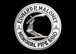 EDWARD P. MALONEY MEMORIAL PIPE BAND CAP BADGE - © CELTICJACKALOPE.COM