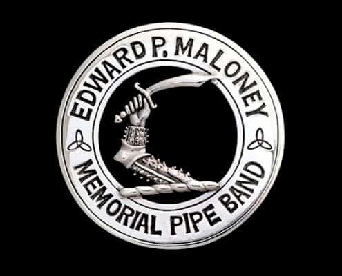 EDWARD P. MALONEY MEMORIAL PIPE BAND CAP BADGE - © CELTICJACKALOPE.COM
