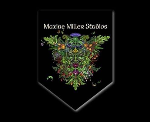 MAXINE MILLER STUDIOS CUSTOM PROMOTIONAL BANNER - © CELTICJACKALOPE.COM - ARTIST MAXINE MILLER