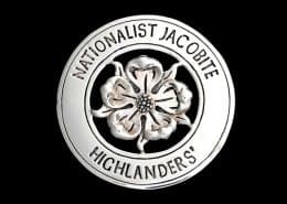 NATIONALIST JACOBITE HIGHLANDERS CAP BADGE - © CELTICJACKALOPE.COM