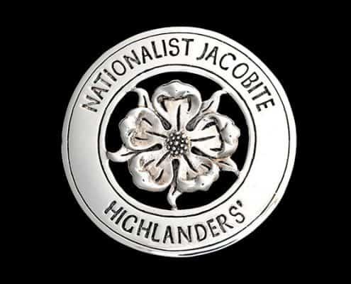 NATIONALIST JACOBITE HIGHLANDERS CAP BADGE - © CELTICJACKALOPE.COM