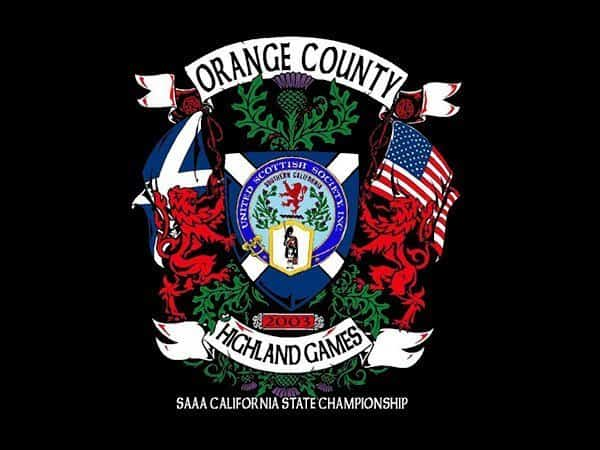 ORANGE COUNTY HIGHLAND GAMES 2003 EVENT T-SHIRT - © CELTICJACKALOPE.COM - ARTIST MAXINE MILLER