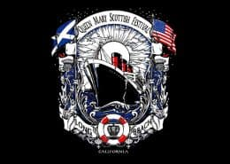 QUEEN MARY SCOTTISH FESTIVAL T-SHIRT - © CELTICJACKALOPE.COM - ARTIST MAXINE MILLER
