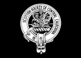 SCOTTISH SOCIETY OF CENTRAL CALIFORNIA CAP BADGE - © CELTICJACKALOPE.COM - ARTIST: MAXINE MILLER