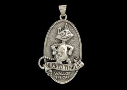 WICKED TINKERS WALLOP THE CAT PENDANT - © CELTICJACKALOPE.COM: ARTIST - WARREN CASEY