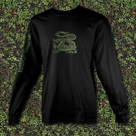 Celtic Dragon Men's Long Sleeve T-Shirt by Maxine Miller ©celticjackalope.com