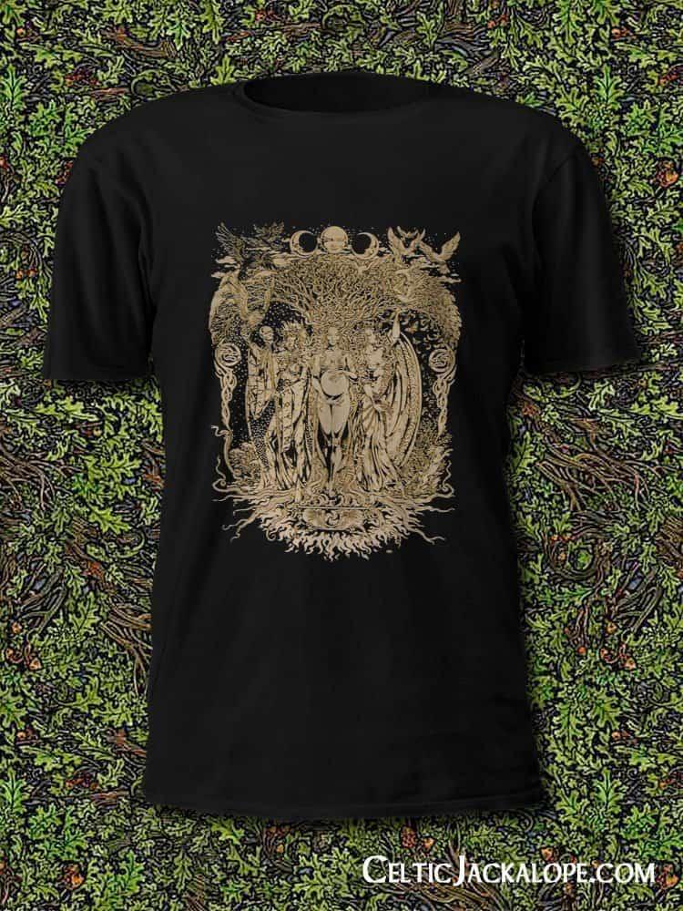 Triple Goddess Men's Style Short Sleeve T-Shirt by Maxine Miller ©celticjackalope.com