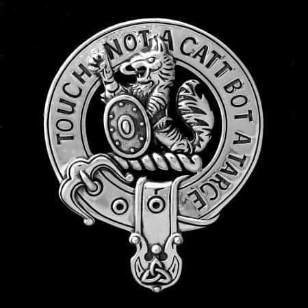 Clan MacBean 92.5 Sterling Silver Clansman's Crest Badge by Maxine Miller ©celticjackalope.com