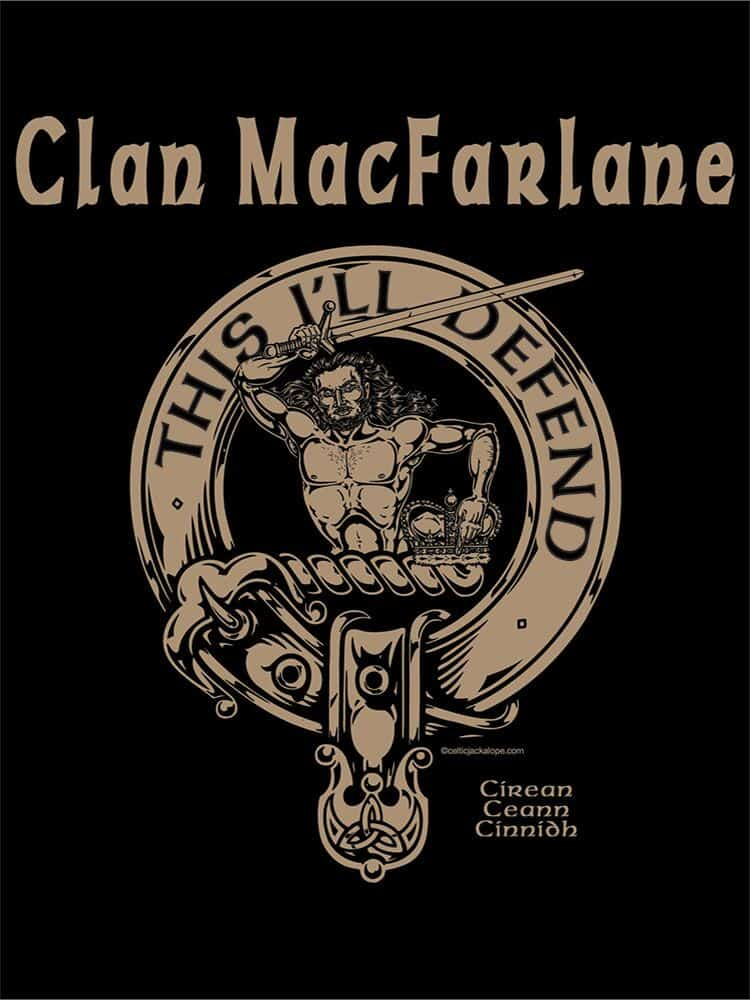 Clan MacFarlane Cattle Company T-Shirt by Maxine Miller ©celticjackalope.com
