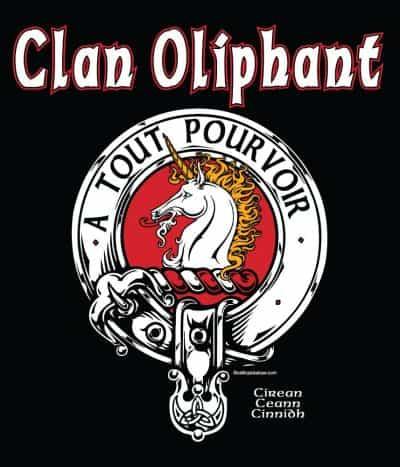 Clan Oliphant Clansman's Crest Badge T-Shirt by Maxine Miller ©celticjackalope.com A TOUT POURVOIR