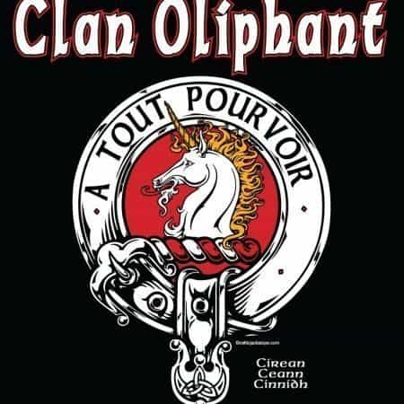 Clan Oliphant Clansman's Crest Badge T-Shirt by Maxine Miller ©celticjackalope.com A TOUT POURVOIR