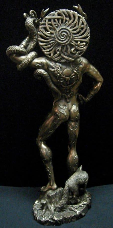 """Celtic Horned God Cernunnos Statue Large 18"""" in Height Cold Cast Bronze by Maxine Miller ©celticjackalope.com"""