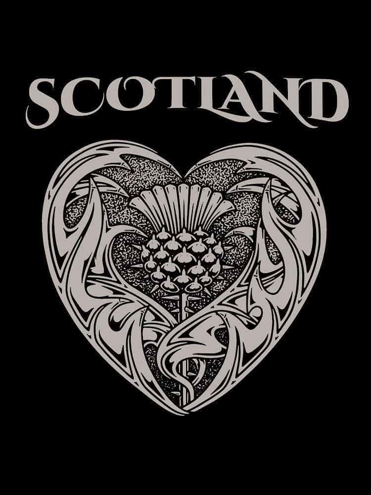 Ladies Heart of Scotland Thistle T-shirts and tank Tops by Maxine Miller ©celticjackalope.com