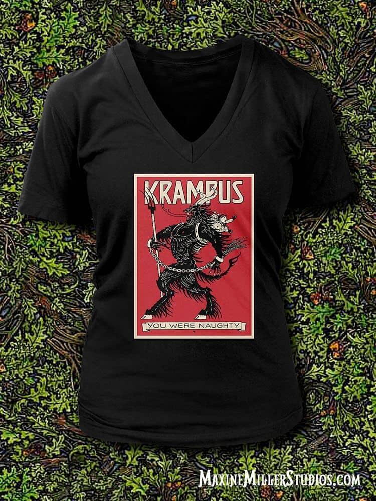 Krampus T-Shirts by Maxine Miller Men's and Ladies ©celticjackalope.com