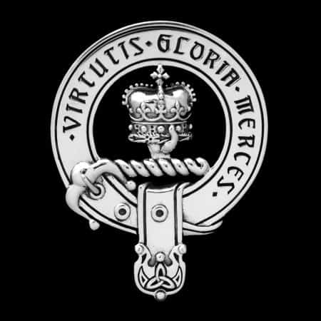 Sterling Silver Clan Donnachaidh (Duncan Robertson Reid) Clansman's Crest Badge by Maxine Miller ©celticjackalope.com