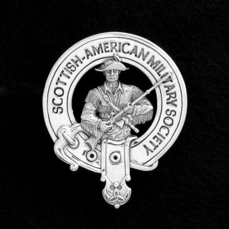 Scottish American Military Society SAMS Sterling Silver Belted Crest Badge by Maxine Miller ©celticjackalope.com