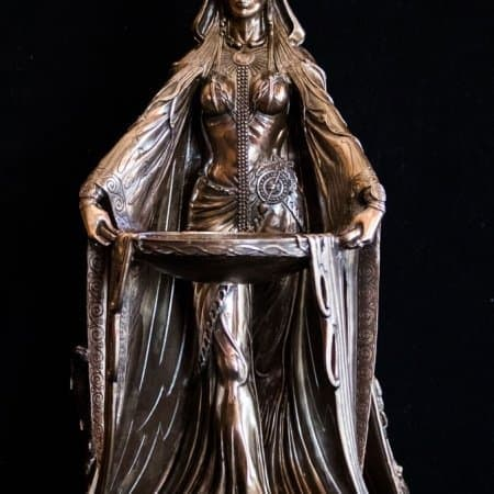 "Large 16"" Cold Cast Bronze Celtic Danu Goddess Statue by Maxine Miller ©Maxine Miller"