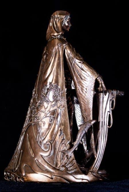 "Large 16"" Cold Cast Bronze Celtic Danu Goddess Statue by Maxine Miller ©Maxine Miller"